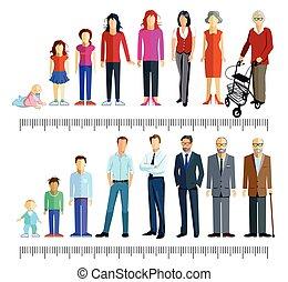 3 Generation - Generations stand together illustration