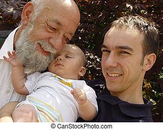 father, grandson, son