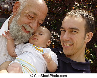 3 generations - father, grandson, son