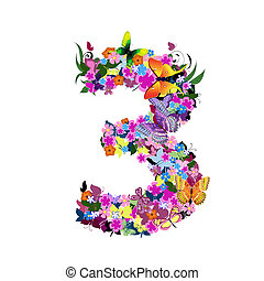 3, getal