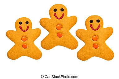 3 gingerbread men