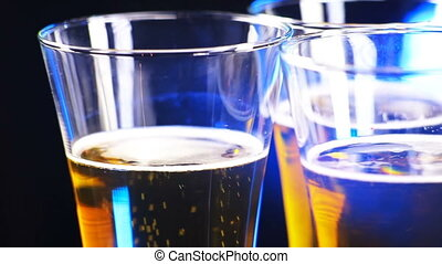 3 glasses of beer rotate