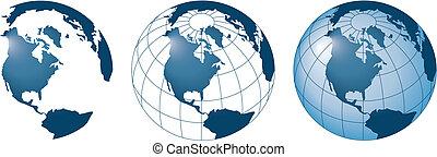 3 ector globes