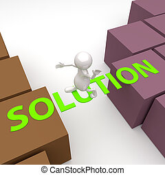 3, glose, løsning, folk