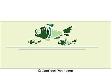 3 graphic fish in design