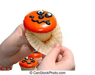 3, halloween, cupcake