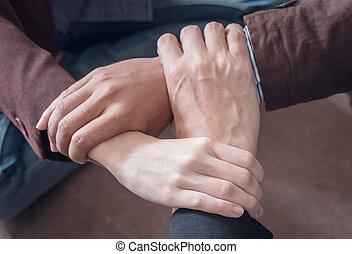 3 Hand Assemble Corporate Meeting /Teamwork