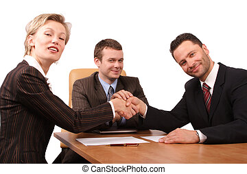 3, handslag, folk