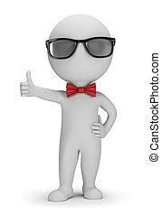 3, hipster, -, positiv, pose