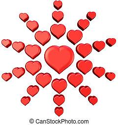 3, hjärtan