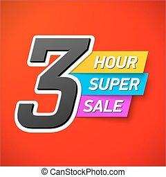 3 Hour Super Sale banner