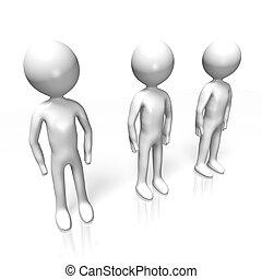 3 human characters