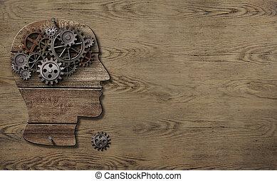 3, illustration, psykologi, arbete, hjärna, begrepp, eller