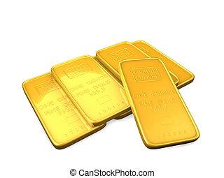 3, image, guld bar, afsondre, baggrund