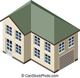 3, isometric, épület