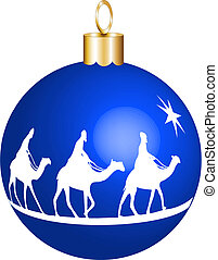 3 kings christmas ornament - Three wise men on camels going...
