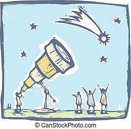 #3, kometa, teleskop