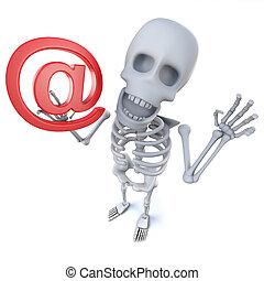 3, komický, karikatura, kostra, charakter, majetek, neurč. člen, elektronická pošta, adresovat, znak