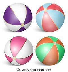3, komplet, plażowa piłka