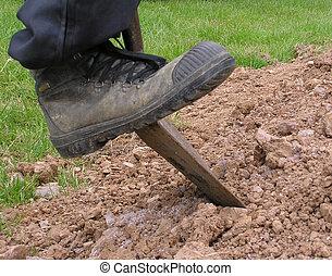 3, kopać