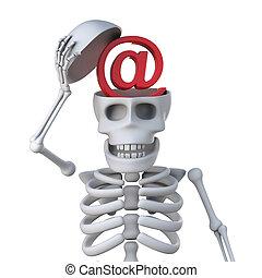 3, kostra, má, elektronická pošta, adresovat, znak, jádro, jeho, mozek, kost