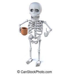 3, kostra, udělat si rád, jeden, hezký, číše k čaj