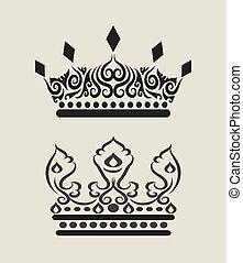 3, krone, dekorationen