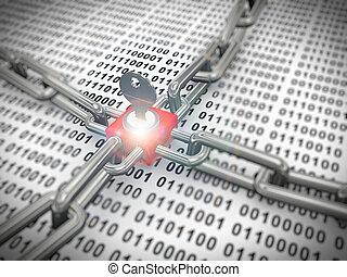 3, lås, sikret, binære data
