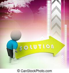 3, lösning, man