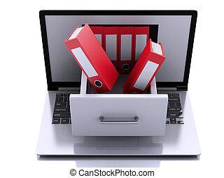 3, laptop, hos, ring, binders., data, storage.