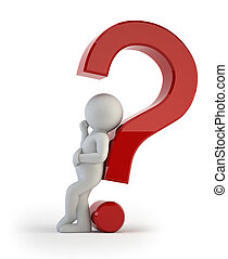 3, lille, folk, -, komplicer, spørgsmål
