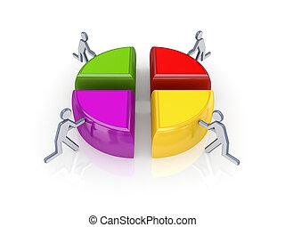 3, liten, folk, och, färgrik, graph.