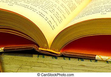 3, livre, ouvert