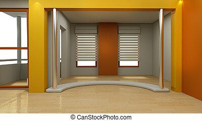 3, műterem, tv, tényleges, állhatatos