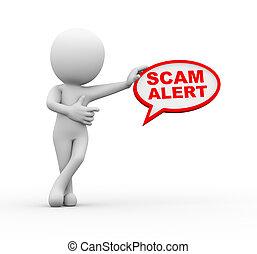 3, man, med, scam, vaken, bubbla, anförande