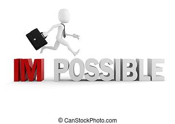 3, mand, forretningsmand, hos, positiv holdning