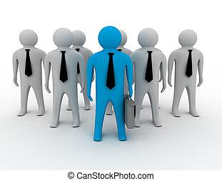 3, mand, person, sammen, leder