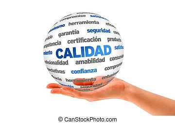 3, minőség, szó, gömb, (in, spanish)