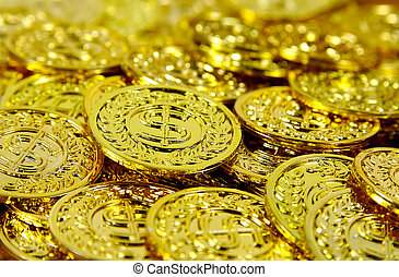 3, muntjes, goud