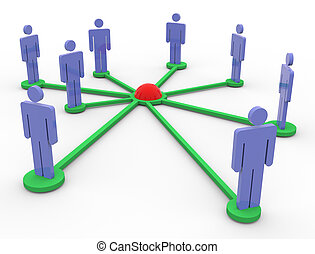 3, nätverk, folk