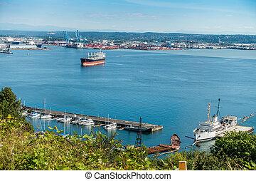 3, nord-ouest, pacifique, port maritime