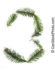 3 - number symbol from christmas alphabet