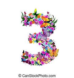 3, numrera