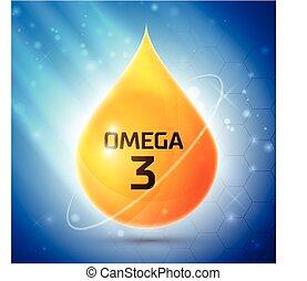 3, omega, pictogram