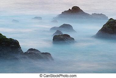 3, ondas, rocas