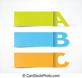 3 Option banners: A, B, C