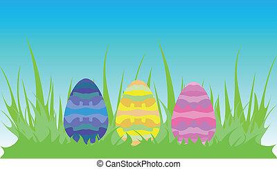 3, påsk eggar