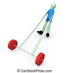 #3, -, peso-levantar, esportes