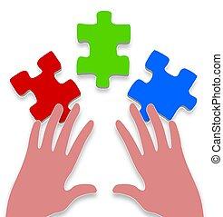 3 piece jigsaw