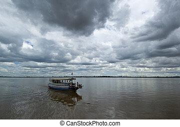 3, podróż, łódka